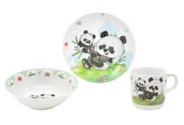 Набір посуду для дітей LIMITED EDITION Panda 3 предмети Фарфор Білий (C555)