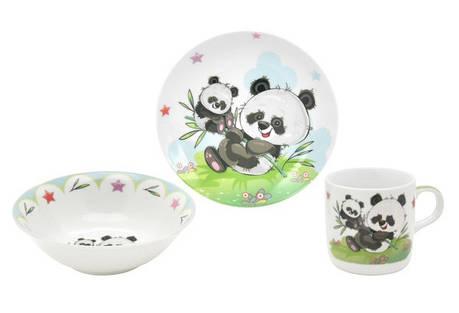 Набор посуды для детей LIMITED EDITION Panda 3 предмета Фарфор Белый (C555), фото 2