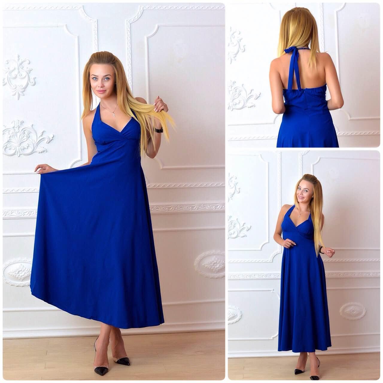 Плаття довге, М-2, колір синій