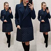 Пальто женское весна - осень арт. 140 синее