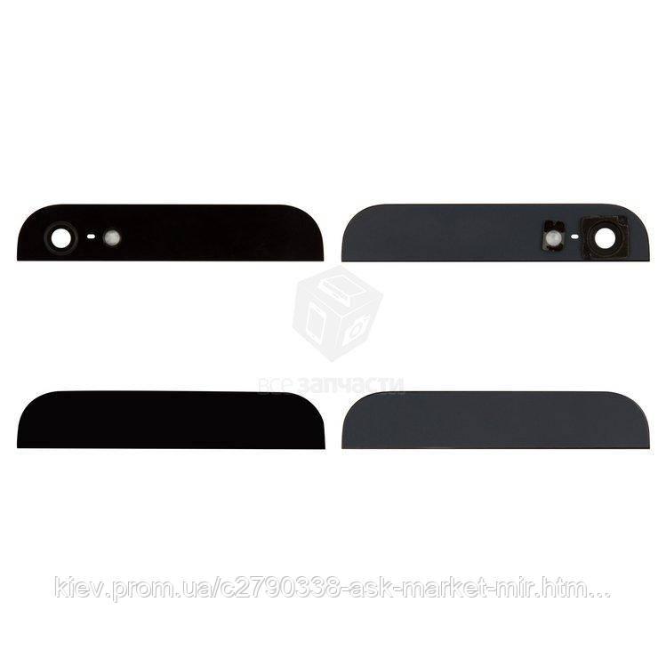 Верхня + нижня панель корпусу для Apple iPhone 5 Black Original