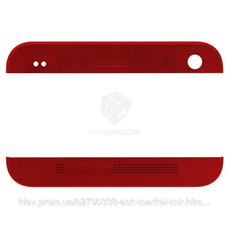 Верхняя + нижняя панель корпуса для HTC One M7 801e Original Red