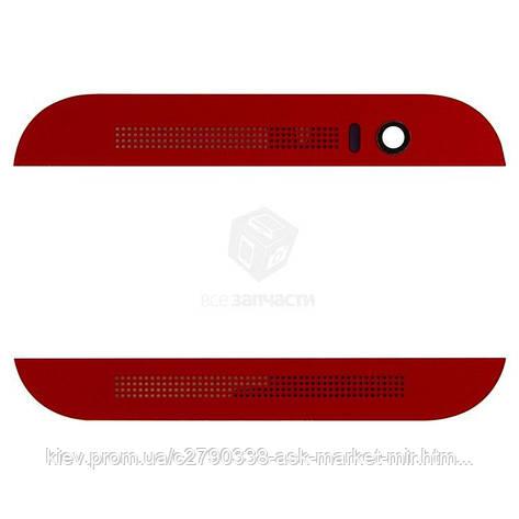 Верхня + нижня панель корпусу для HTC One M8 Original Red, фото 2