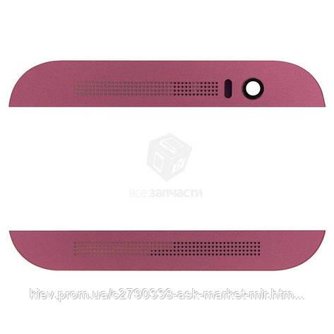 Верхня + нижня панель корпусу для HTC One M8 Original Pink, фото 2