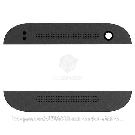 Верхня + нижня панель корпусу для HTC One mini 2 Black Original, фото 2