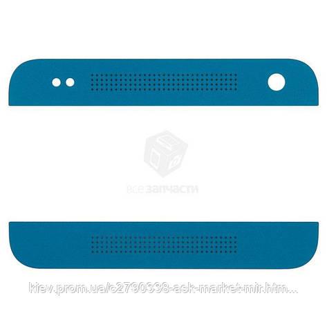 Верхня + нижня панель корпусу для HTC One mini 601n Original Dark Blue, фото 2