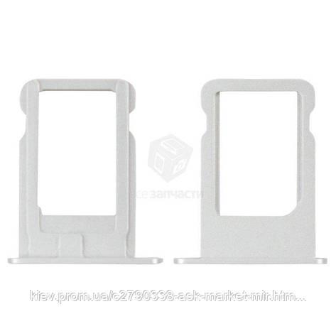 Держатель SIM-карты для Apple iPhone 5 Original Silver, фото 2