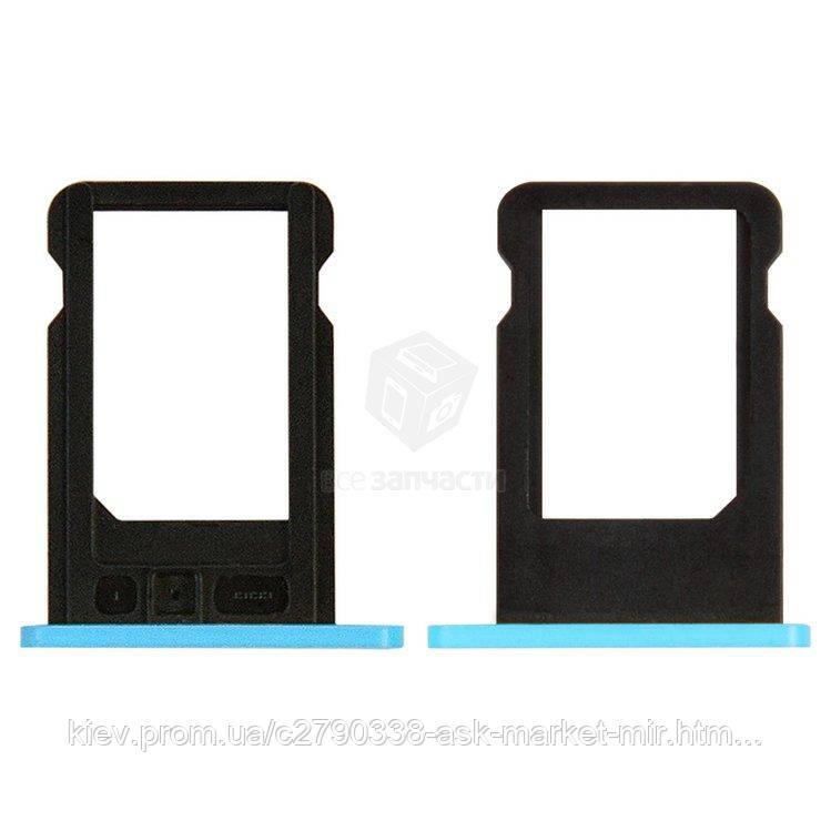 Держатель SIM-карты для Apple iPhone 5C Original Blue