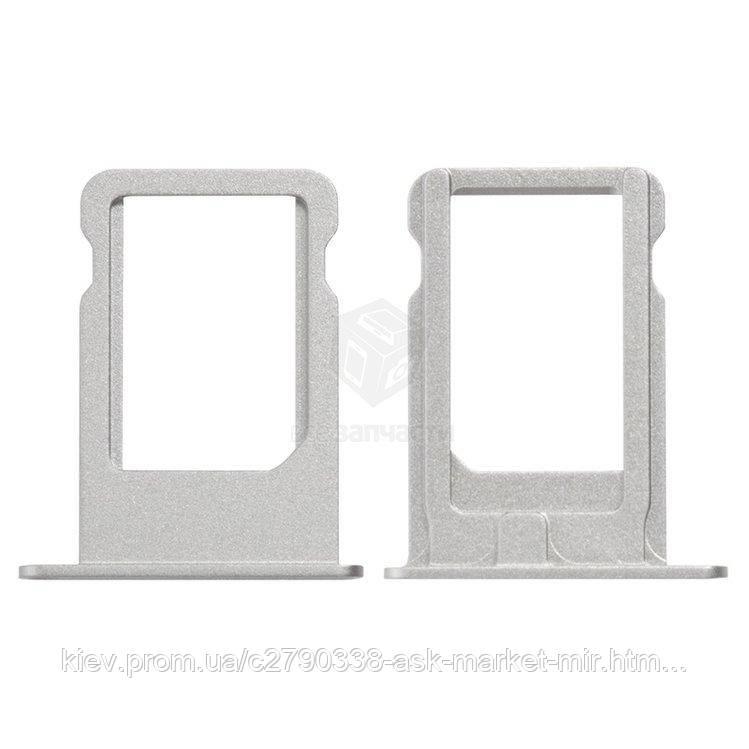 Держатель SIM-карты для Apple iPhone 5S, iPhone SE Original Silver