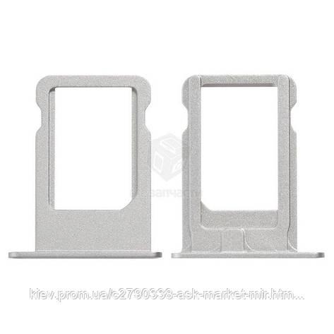 Держатель SIM-карты для Apple iPhone 5S, iPhone SE Original Silver, фото 2