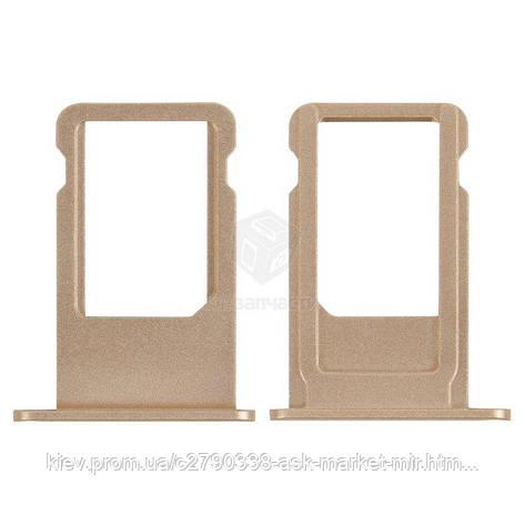 Держатель SIM-карты для Apple iPhone 6S Plus Original Gold, фото 2
