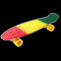 Скейт Пенни Борд Print, Penny Board Nickel 27 Градиент Флаг Ямайки
