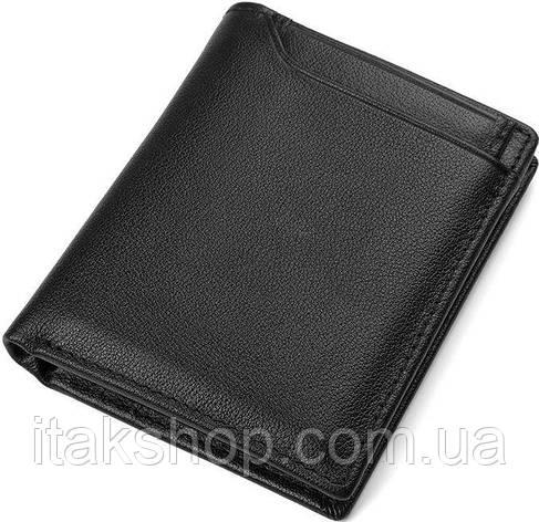 Кошелек мужской Vintage 14594 кожаный Черный, Черный, фото 2