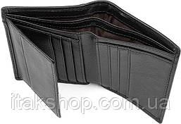 Кошелек мужской Vintage 14594 кожаный Черный, Черный, фото 3
