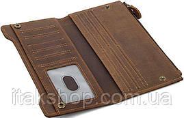 Кошелек Vintage 14596 кожаный Коричневый, Коричневый, фото 3