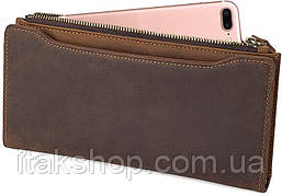 Кошелек Vintage 14596 кожаный Коричневый, Коричневый, фото 2