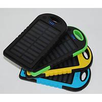 Внешний аккумулятор портативное зарядное устройство Solar Power Bank 20000 mAh с солнечной батареей