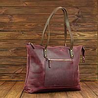 Женская кожаная сумка Lady Boss Marsala/Brown