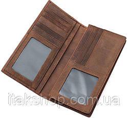 Бумажник мужской Vintage 14615 Коричневый, Коричневый, фото 3