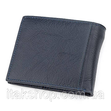 Мужской кошелек ST Leather 18303 (ST159) кожаный Синий, Синий, фото 2
