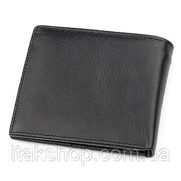 Мужской купюрник ST Leather 18305 (ST159) кожаный Черный, Черный, фото 2