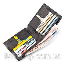 Мужской купюрник ST Leather 18305 (ST159) кожаный Черный, Черный, фото 3