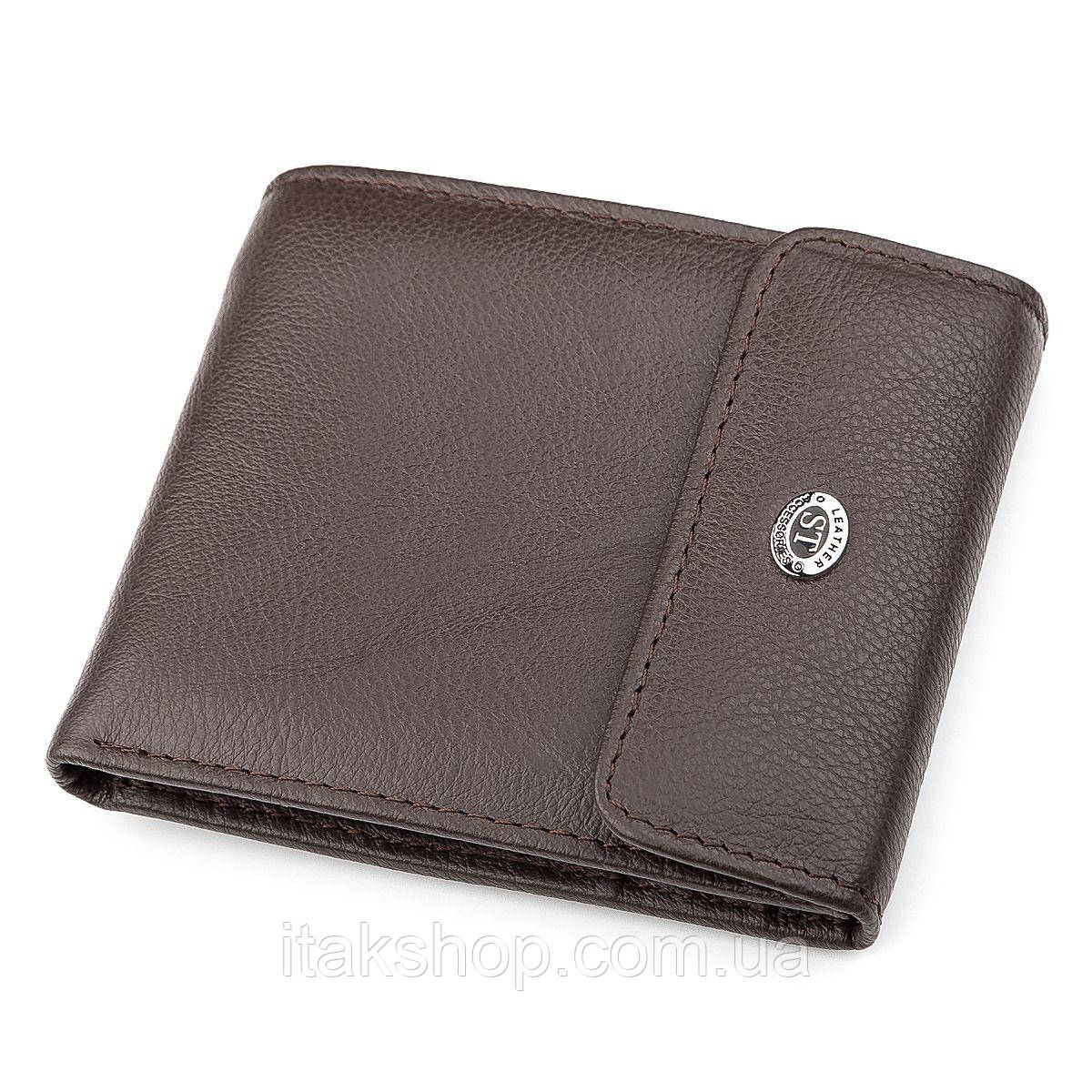 Кошелек ST Leather 18314 (ST155) натуральная кожа Коричневый, Коричневый
