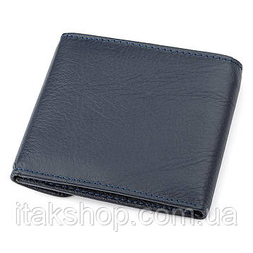 Кошелек ST Leather 18315 (ST155) кожаный Синий, Синий, фото 2
