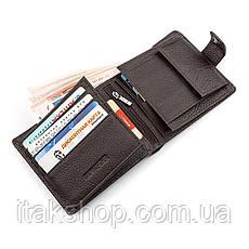 Мужской кошелек ST Leather 18347 (ST153) функциональный Коричневый, Коричневый, фото 3