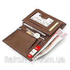 Мужской бумажник ST Leather 18348 (ST-2) сверхпрочный Коричневый, Коричневый, фото 3