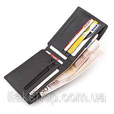 Мужской кошелек ST Leather 18352 (ST-1) натуральная кожа Черный, Черный, фото 3