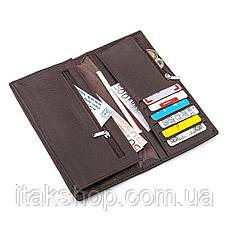 Мужской купюрник ST Leather 18368 (ST148) функциональный Коричневый, Коричневый, фото 3