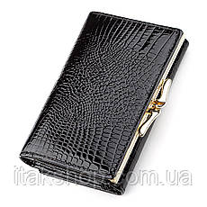 Кошелек женский ST Leather 18373 (S1201A) средний размер Черный, Черный, фото 2