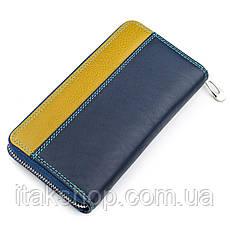 Кошелек женский ST Leather 18375 (SB71) на молнии Синий, Синий, фото 2