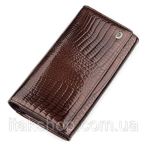 Кошелек женский ST Leather 18424 (S6001A) из натуральной кожи Коричневый, Коричневый, фото 2