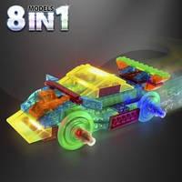 Laser Pegs Конструктор светящийся Спортивный автомобиль (Набор 8 в 1)