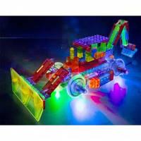Laser Pegs Конструктор светящийся Бульдозер (Набор 8 в 1)