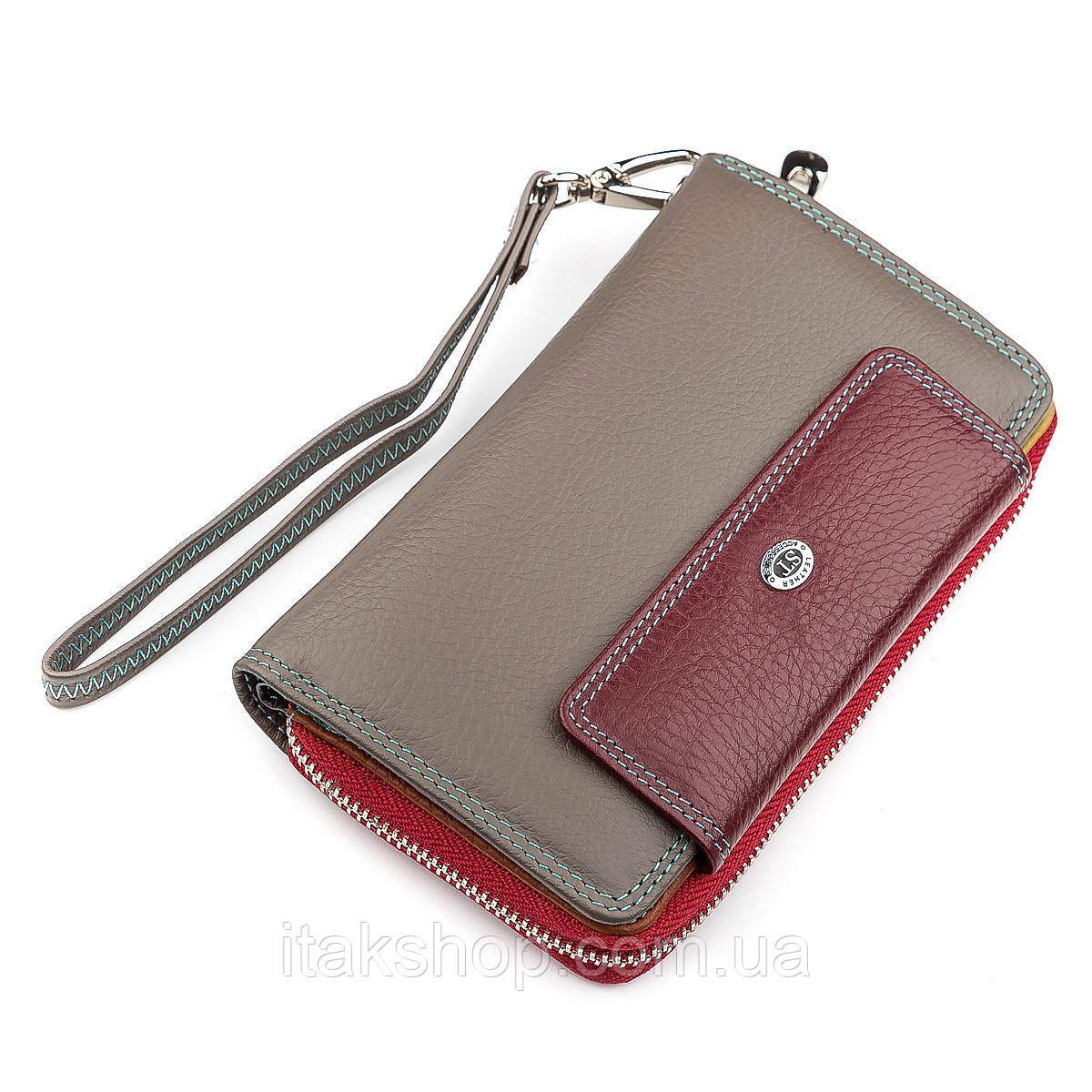 Кошелек женский ST Leather 18442 (SB55-5) Бордовый, Бордовый