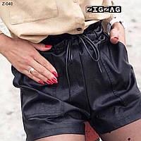 Стильные женские кожаные шорты, фото 1