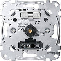Механизм поворотного светорегулятора с выключателем Merten 40...400 Вт, R (MTN5131-0000)
