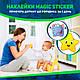 Наклейка навчальна для горщика Багаторазова Magic Sticker 5 шт,Стікер для горщик Термонаклейка навчальна, фото 2