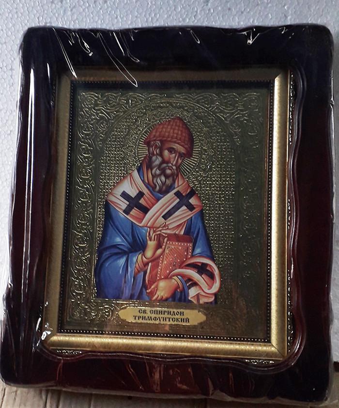 Икона Спиридон Тримифунтский 35х30см