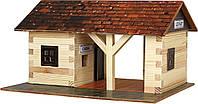 """Объемная сборная модель """"Железнодорожный вокзал"""" (115 элементов) Walachia.  (Nr11(430112))"""