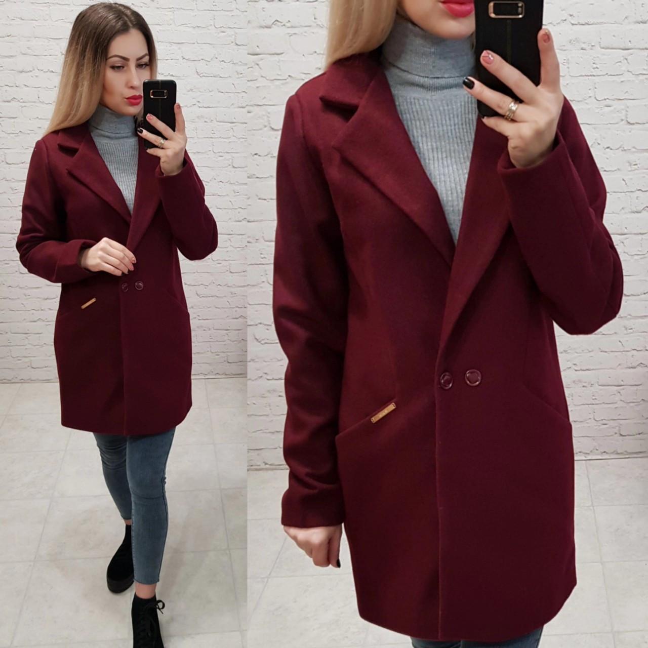 Пальто арт 821/1 марсала