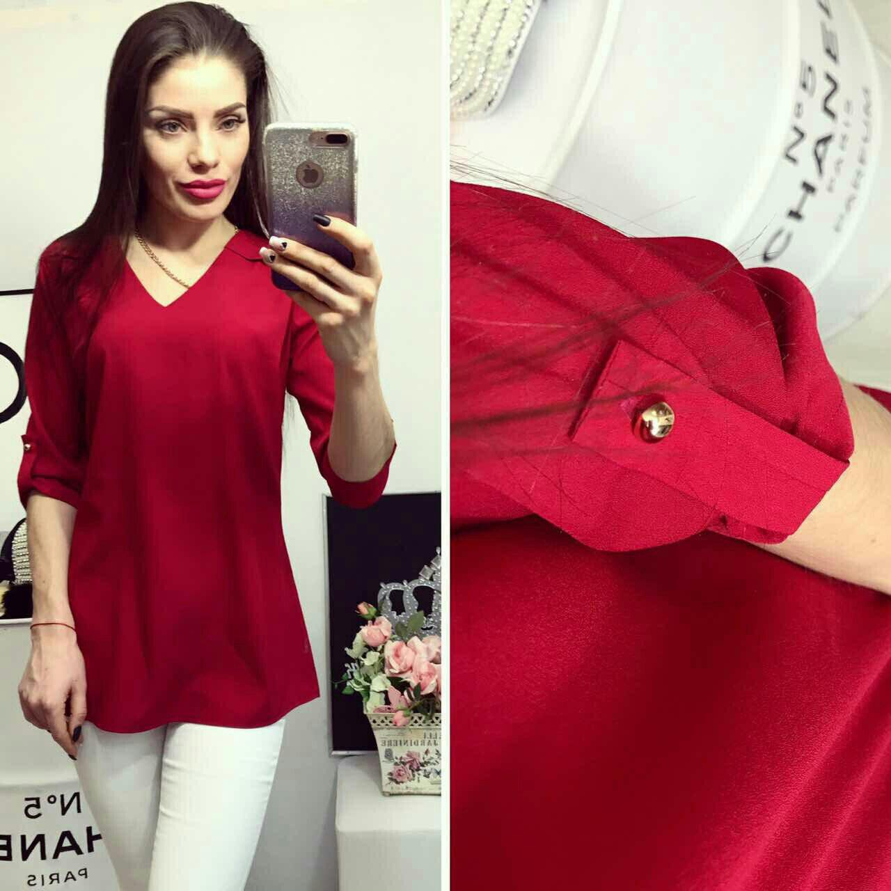 Блузка жіноча, модель 775, вишня