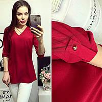 Блузка жіноча, модель 775, вишня, фото 1