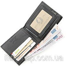 Бумажник мужской STINGRAY LEATHER 18562 из натуральной кожи морского ската Черный, Черный, фото 3