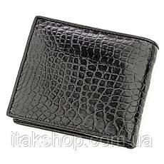 Бумажник мужской CROCODILE LEATHER 18584 из натуральной кожи крокодила Черный, Черный, фото 2