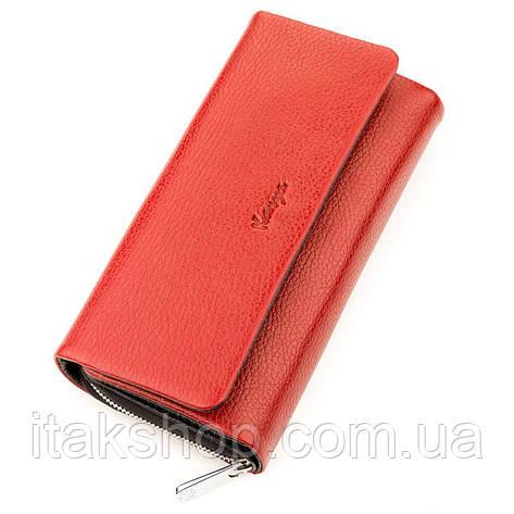 Кошелек женский KARYA 17249 кожаный Красный, Красный, фото 2