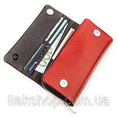 Кошелек женский KARYA 17249 кожаный Красный, Красный, фото 3